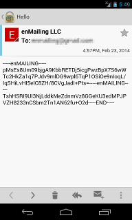 Android Encrypted Message