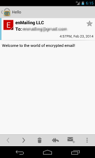 Android Decrypted Message